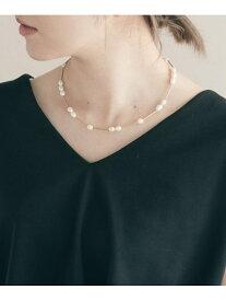 [Rakuten Fashion]メタルバータンスイパールネックレス SMELLY スメリー アクセサリー ネックレス ゴールド