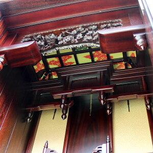 唐木仏壇・典雅47-16号【天然木材・三方練り仏壇】紫檀(ソノケリン)を三方練で仕上げながらデザイン性・機能性にも富みつつ、価格も抑えた超逸品仏壇。