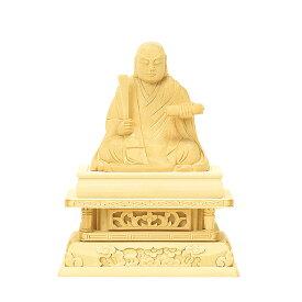 【仏具】仏像・日蓮【総白木】(1.5寸〜4.0寸 / 高さ:10.6cm〜25.6cm)