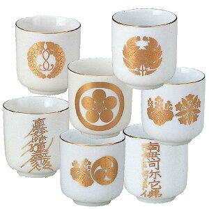 【仏具】湯呑み 宗派別紋入 陶器製 サイズも豊富で、口径:1.5(高さ:4.4cm)〜2.8(高さ:10.7cm)までご用意しています