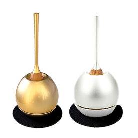 【仏具】チェリン【国産】リンの中でも随一と言えるデザイン性を誇る人気セット。ゴールドとシルバーからお選びいただける日本製の高品質なおりんです
