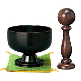 【仏具】高台リン・遊亀(黒艶色)艶のある漆黒色はどのタイプの仏壇にもマッチします。サイズ:1.8寸〜3.0寸(リン口径:5.4cm〜9.0cm)