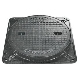 鋳鉄製 マンホール 14t荷重 CMD-2-600 蓋枠セット フタ径645mm 穴径600mm クサリ無し 【代引き不可】浄化槽 マンホール蓋