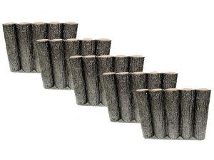 【お得な5個セット】サンポリ プラスティック擬木 はなえ80φ 5連平行杭タイプ H300 お庭の縁取り diy 花壇 囲い 土留め ブロック 仕切り フェンス 柵 ガーデニング 樹脂製 プラ 擬木 Flowerbed A
