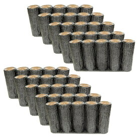 【送料無料】【お得な15個セット】サンポリ プラスティック擬木 はなえ80φ 5連平行杭タイプ H200 お庭の縁取り diy 花壇 囲い 土留め ブロック 仕切り フェンス 柵 ガーデニング 樹脂製 プラ 擬木 Flowerbed Artificial Wood
