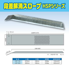 <送料無料>段差解消スロープ HSP-300 (長さ993mm 幅180mm 耐荷重350kg適用段差目安 300mm)【代引不可】介護 車いす 介助 福祉用具