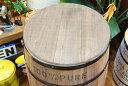 コナコーヒー木樽(茶) XLサイズ用のフタ ※フタのみ☆樽 ハワイアン雑貨 ハワイ雑貨 アメリカン雑貨 アメリカ雑貨 インテリア 収納 木箱 コーヒー バレル 木樽