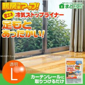 断熱カーテン/ 省エネ冷気ストップライナー超透明L[E1405]【ネコポス送料無料】