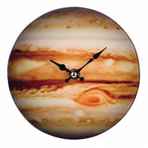 卓上ガラス時計 ROUND17cm「Jupiter」[N-8419]