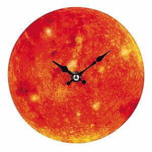 卓上ガラス時計 ROUND17cm「Sun」[N-8420]