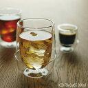 耐熱ガラス カップ コップ / キントー クロノス ダブルウォール アイスティーグラス 350ml KINTO KRONOS Double wall iced ...