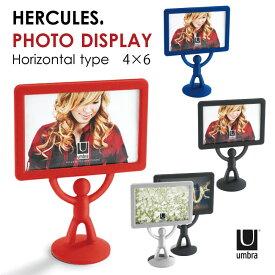HERCULES PHOTO DISPLAY ヘラクレスフレーム 4X6横 / umbra アンブラ / 写真立て フォトフレーム KGサイズ 4×6 卓上 デスク 横 スタンド ディスプレイ 人型 個性的 BUDDYくん ファミリー カップル ギフト プレゼント