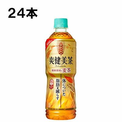 爽健美茶 健康素材の麦茶 600ml 24本 (24本×1ケース) PET 機能性表示食品 安心のメーカー直送