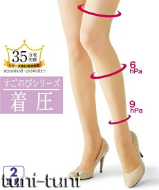 すごのび 抗菌防臭伝線しにくい股ズレ防止ソフト着圧パンティストッキング2足組 肌着・インナー 大きなサイズ 30代 40代 50代 女性 大きいサイズ レディース