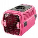 【訳あり】ペットグッズ ドッグ リッチェルキャンピングキャリー ダブルドア M ピンク小型犬用(体重目安:8kg以下…