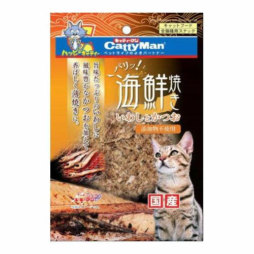 【訳あり・割れ多し】(ペット2倍)キャットフード ドギーマン賞味期限:2018年8月以降 パリッ!と海鮮焼き いわしとかつお 6g(ねこ、猫、ネコ)(おやつ、間食用、ペットフード)