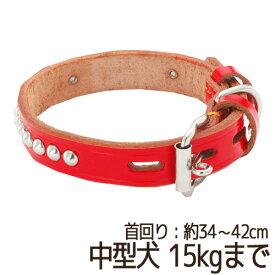 07952db19aa7 【訳あり】 ペットグッズ ドッグ ペティオ手縫平首輪中一 27mm レッド