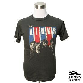デザインTシャツ BUNNY RABBIT The Kinks ザ・キンクス バンドTシャツ ビンテージ風 プリントTシャツ グッズ ブリティッシュ ロック モッズ 60年代 フェス 音楽 Tシャツ メンズ レディース サイズM&L