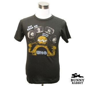デザインTシャツ BUNNY RABBIT The WHO ザ・フー REAL ME JIMMY バンドTシャツ ビンテージ風 プリントTシャツ ブリティッシュ ロック レジェンド さらば青春の光 音楽 ロックT バンドT Tシャツ メンズ レ