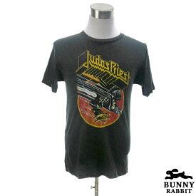 デザインTシャツ BUNNY RABBIT Judas Priest ジューダス・プリースト ビンテージ風 ロック ヘヴィメタル メタル ハードロック アンガス・ヤング レジェンド バンド フェス 黒 ブラック バンドTシャツ