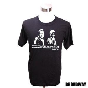 デザインTシャツ Broadway Pulp Fiction3 パルプ・フィクション3 映画Tシャツ プリントTシャツ グッズ 洋画 クエンティン・タランティーノ Tシャツ メンズ レディース サイズM&L