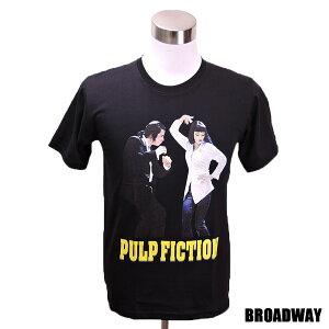 デザインTシャツ Broadway Pulp Fiction4 パルプ・フィクション4 映画Tシャツ プリントTシャツ グッズ 洋画 クエンティン・タランティーノ Tシャツ メンズ レディース サイズM&L