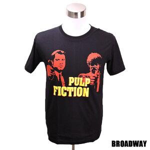 デザインTシャツ Broadway Pulp Fiction2 パルプ・フィクション2 映画Tシャツ プリントTシャツ グッズ 洋画 クエンティン・タランティーノ Tシャツ メンズ レディース サイズM&L