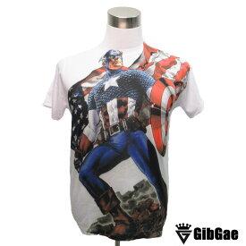 【ポイント2倍☆】【送料無料!!GibGaeアートデザインTシャツ】Captain America8 キャプテン・アメリカ8 【映画Tシャツ・アメコミ・マーベル・アベンジャーズ・インフィニティ・ウォー】 Tシャツ メンズ レディース【サイズM&L】