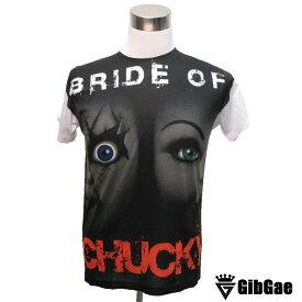 BRIDE OF Chucky チャッキーの花嫁 チャイルドプレイ チャッキー&ティファニー 映画Tシャツ ホラー・チャイルド プレイ こわかわいい Tシャツ メンズ レディース サイズM&L
