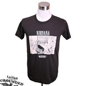 デザインTシャツ LECTRO GROUNDED Nirvana ニルヴァーナ 音楽・プリントTシャツ グッズ グランジロック カートコバーン バンドTシャツ Tシャツ メンズ レディース サイズM&L