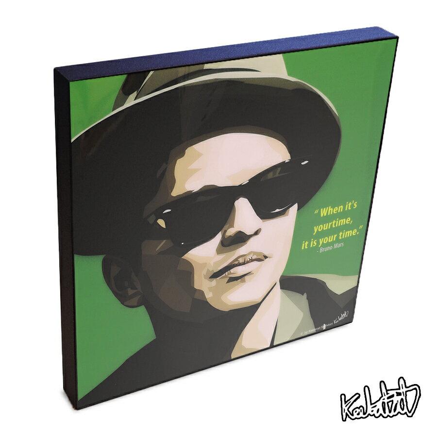 Bruno Mars ブルーノ・マーズ インテリアグラフィックボード [グラミー賞歌手☆ ファンキー ソウル R&B ] お洒落にお部屋を彩るアートパネル【音楽ミュージック・レジェンド・スター グッズ・雑貨】