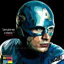 【ポイント2倍☆】Captain America キャプテン・アメリカ (クリス・エヴァンス) インテリアアートパネル [マーベルM…