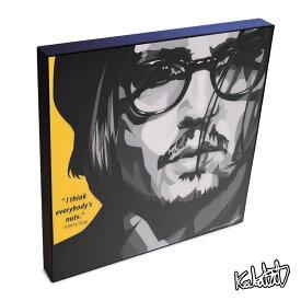 Johnny Depp ジョニー・デップ KEETATAT SITTHIKET インテリア雑貨 おしゃれ ポップアートフレーム ポップアートパネル 絵 イラスト グラフィック 壁掛け 俳優 偉人 セレブ 映画 スター ハリウッド