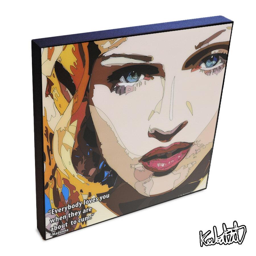 【ポイント2倍☆】Madonna Ciccone マドンナ インテリアアートパネル [ミュージック] お洒落にお部屋を彩るウォールアートパネル【音楽ミュージック・レジェンド・スター グッズ・雑貨】
