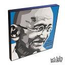 Mahatma Gandhi マハトマ・ガンディー [ガンジー] インテリアグラフィックボード [インド独立の父・偉大な指導者] お洒落にお部屋を彩るウォールア...