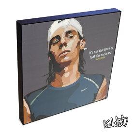 【10/19 22:00-10/21 10:59まで!ポイント10倍!】Rafael Nadal ラファエル・ナダル KEETATAT SITTHIKET ポップアートパネル ポップアートフレーム 絵 イラスト グラフィック 壁掛け おしゃれ インテリア テニスプレイヤー