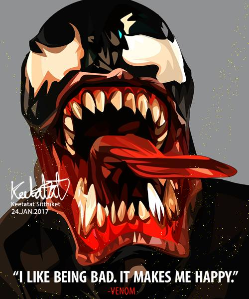 【ポイント2倍☆】Venom ヴェノム [スパイダーマン・MARVEL マーベル インフィニティ・ウォー関連] お洒落にお部屋を彩るウォールアートパネル【映画・キャラクター・スター グッズ・雑貨】