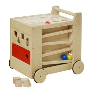 1年保証 コイデ KOIDE 日本製 おもちゃ 玩具 ジョイフルワゴン M50 手押し車 押し車 積み木 パズル 玉そろばん 知育 室内 3歳 男の子 女の子 子供 幼児 ベビー 知育玩具 出産祝い 誕生日 ウッド