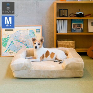 1年保証 犬 猫 ベッド ペットベッド Mサイズ 幅75cm オールシーズン 背もたれ 洗える カバー付 クッション ペットクッション カドラー ソファー ペット用 犬用ベッド 猫用ベッド 小型犬 中型犬