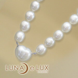 【luna e lux ルナ ルークス】 silver925 ハートネックレス パールネックレス 湖水真珠 NF76223 【smtb-k】【ky】