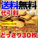 【送料無料】【代引料無料】高級レーズンサンド30個 【smtb-k】【ky】