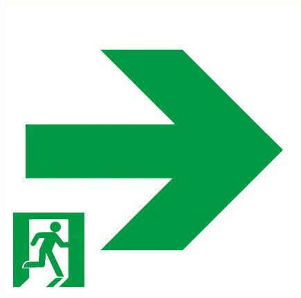 パナソニック 通路誘導灯用適合表示板 右 B級・BH形(20A形)/B級・BL形(20B形) 片面用 FK20017