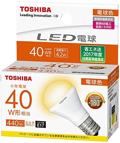 東芝ライテック LED電球 ミニクリプトン形 電球色 40W形 広配光 LDA4L-G-E17/S40WST 【LDA4LGE17S40WST】(LDA4L-G-E17/S/40W同等品)