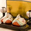 雛人形 ひな人形 陶磁器 コンパクト 小さい ミニ【睦み雛 ボンボリ付き】『龍虎堂』【リュウコドウ】