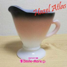 Hazel Atlas ヘーゼルアトラス OVIDE オバイドシリーズ ピンク グラデーション クリーマー・ミルクポット クリープ入れ ミルクガラス キッチン 洋食器 おしゃれ