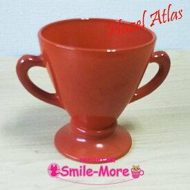 Hazel Atlas ヘーゼルアトラス OVIDE オバイドシリーズ ブラウン グラデーション シュガーポット 砂糖入れ ミルクガラス キッチン 洋食器 食卓