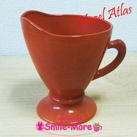 Hazel Atlas ヘーゼルアトラス OVIDE オバイドシリーズ レッドブラウン クリーマー・ミルクポット クリープ入れ ミルクガラス キッチン 洋食器 おしゃれ シンプル
