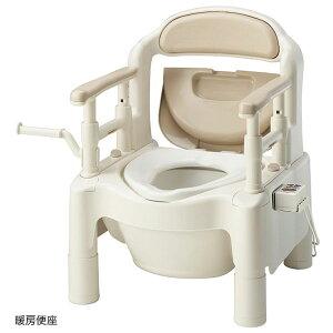 直送品A アロン化成 安寿 ちびくまくん ポータブルトイレFX-CP 暖房便座タイプ さくら 介護トイレ 533-333 同梱不可 代引不可 送料無料