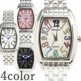 日本製ムーブメント 日常生活防水 小さめ可愛いメタルベルトのシンプルトノー型腕時計 3気圧防水 ホワイト ピンク ブラック AV018 レディース腕時計 送料無料