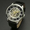 取寄品 正規品Salvatore Marra腕時計サルバトーレマーラ SM16101-SSBK 手巻き 革ベルト メンズ腕時計 auktn 送料無料